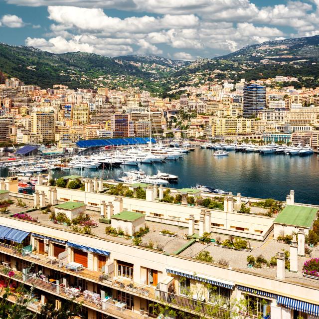 """Port Hercules in the principality of Monaco"" stock image"