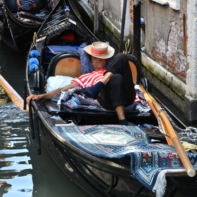 """Sleeping Gondolier"" stock image"
