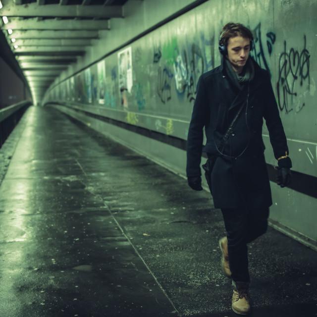 """Evening walk in Bratislava"" stock image"
