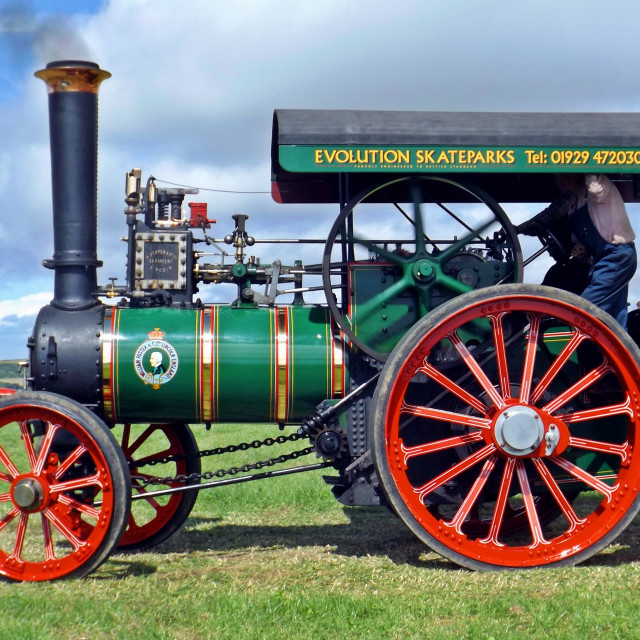 """Foster Traction Engine"" stock image"