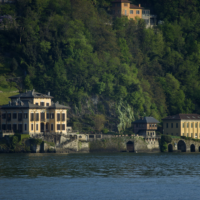 """Lake Como, Blevio"" stock image"