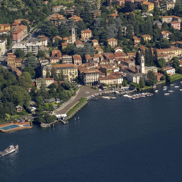 """Lake Como, Cernobbio, aerial."" stock image"