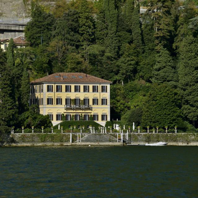 """Lake Como, Moltrasio, Villa Fontanelle."" stock image"
