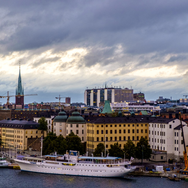 """View of Gamla Stan from Sodermalm, Stockholm, Sweden"" stock image"