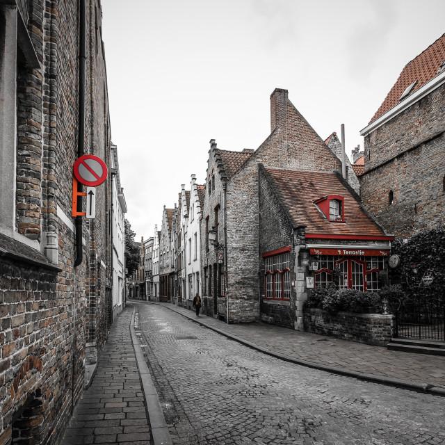 """Cobbled Street"" stock image"