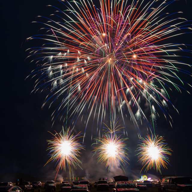 """""""4th of July Fireworks"""" stock image"""