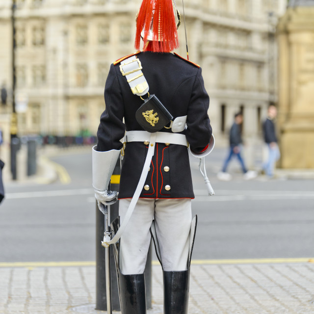 """Soldier on Guard duty in Whitehall"" stock image"