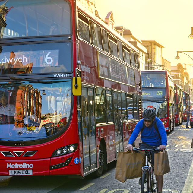 """Mass transit in London"" stock image"