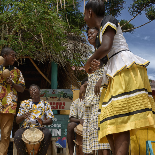 """Garifuna Performers"" stock image"