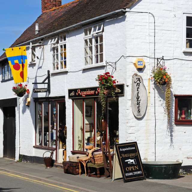 """""""Antique shop in Tewkesbury, England"""" stock image"""