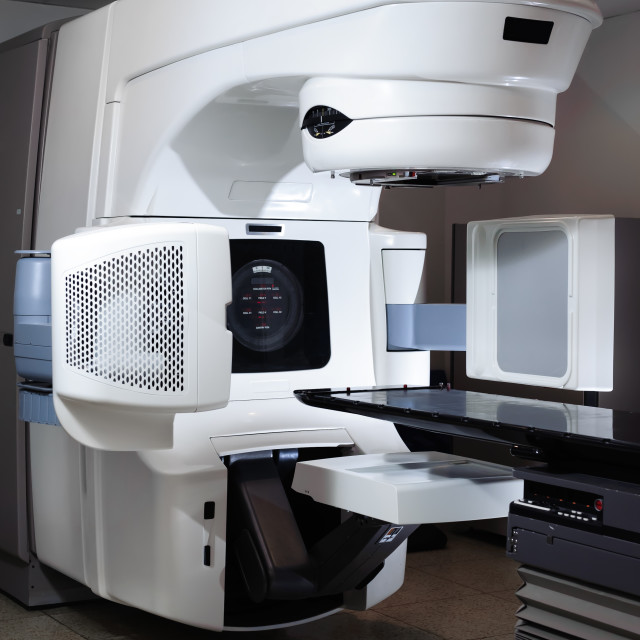 """""""Linear Accelerator at hospital"""" stock image"""