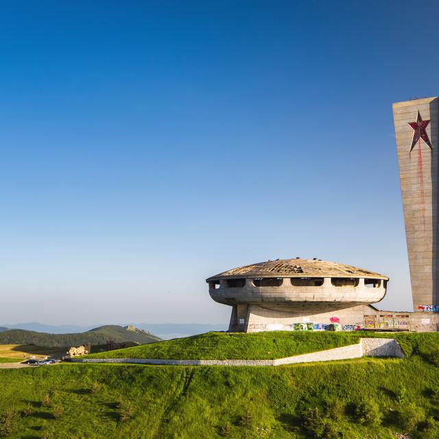 """""""Comunistical monument in Buzludja, Bulgaria."""" stock image"""