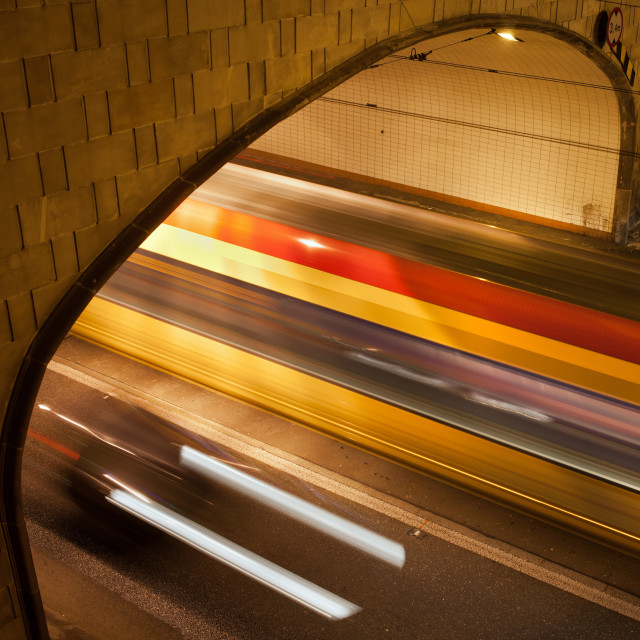 """""""Tunnel Light Trails"""" stock image"""