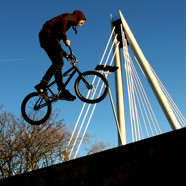 """""""BMX Youth Culture"""" stock image"""