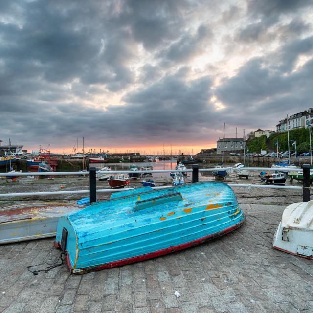 """""""Sunrise over Brixham Harbour"""" stock image"""