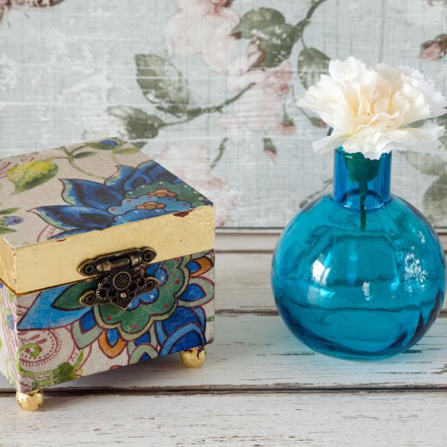 """Gilded Trinket Box"" stock image"