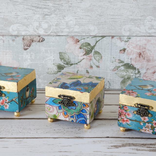 """Jewellery Boxes"" stock image"