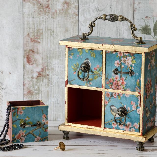 """Gorgeous Jewellery Box"" stock image"