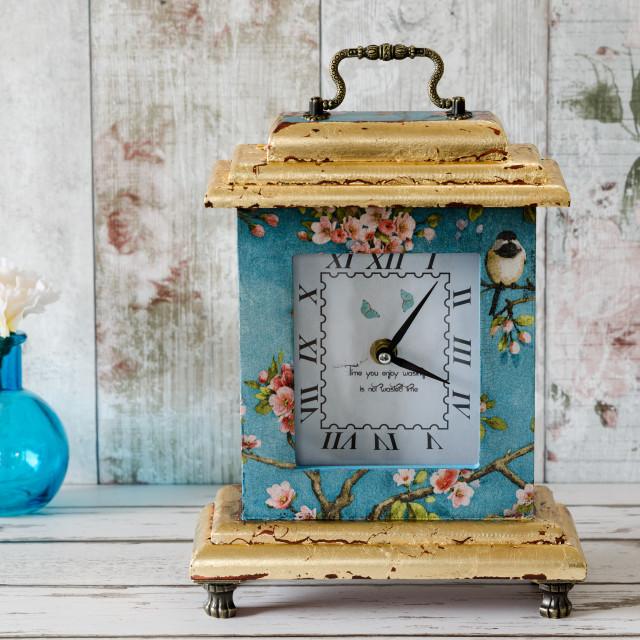 """Decoupage Clock"" stock image"