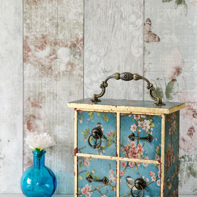"""Shabby Chic Jewellery Box"" stock image"