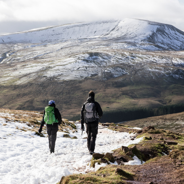 """Pont Ar Daf, Pen Y Fan, Brecon Beacons, Wales"" stock image"