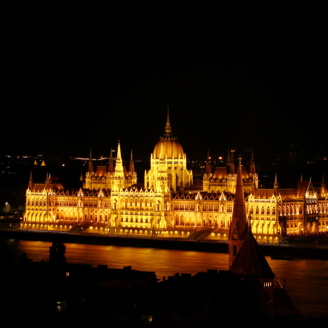 """Hungarian Parliament, Budapest"" stock image"