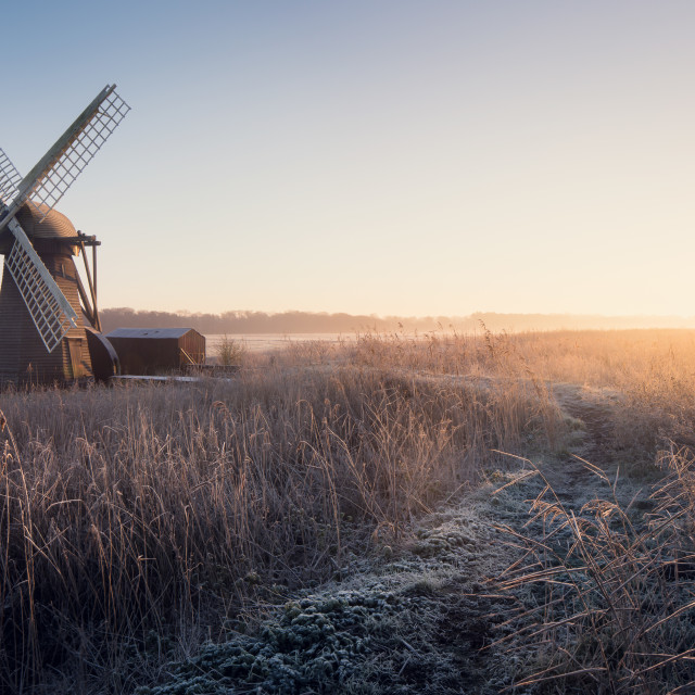 """Herringfleet Mill"" stock image"