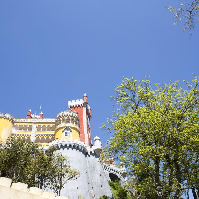 """Pena National Palace (Palacio Nacional da Pena) - Romanticist palace in Sao Pedro de Penaferrim. Sintra, Portugal."" stock image"