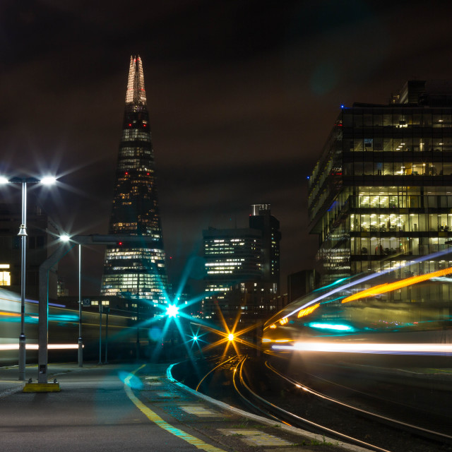 """Shard from Waterloo East"" stock image"