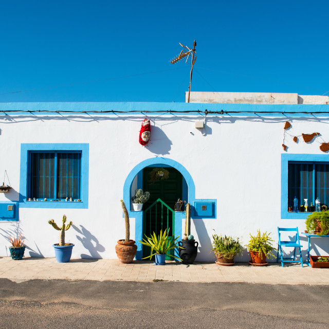 """Unusual Apartment - Salinas Del Carmen - Fuerteventura - Spain"" stock image"
