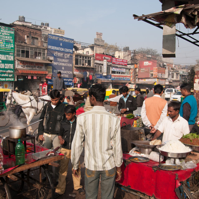 """Market Traders, New Delhi, India"" stock image"