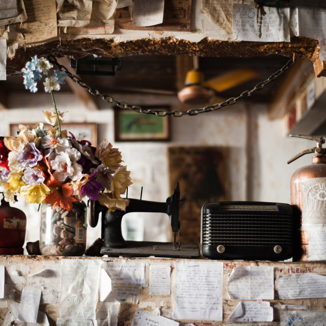 """Interior of an empanada cafe in Cordoba, Argentina, South America"" stock image"
