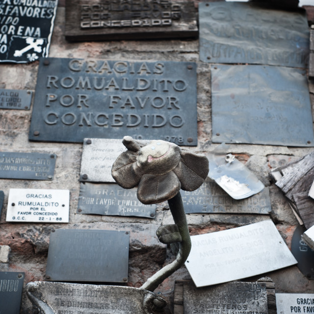 """Commemorative plaques, Santiago, Chile"" stock image"