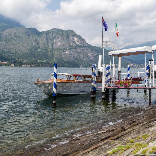 """A boat on Lake Como"" stock image"