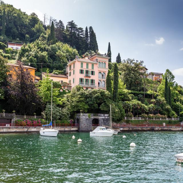 """A view of Varenna on Lake Como"" stock image"