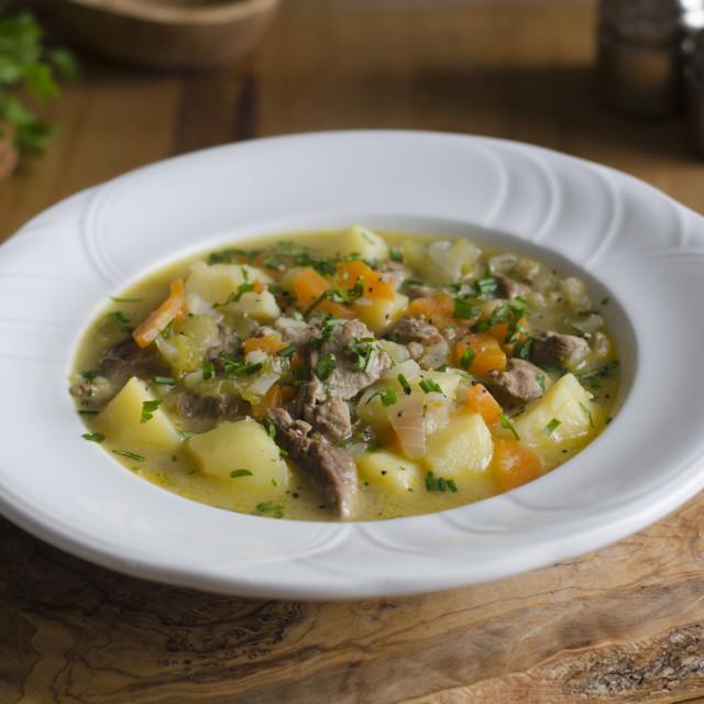 """""""Skinny lamb stew"""" stock image"""