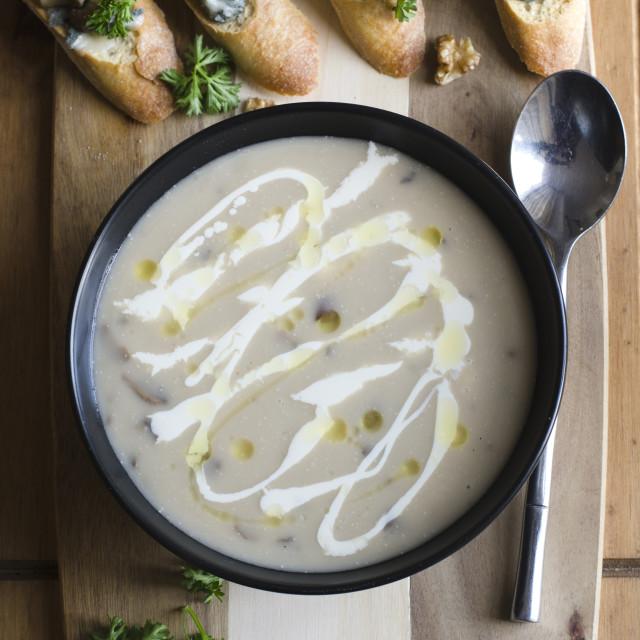 """Mushroom soup"" stock image"