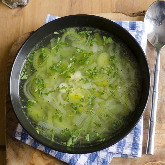 """Leek soup"" stock image"