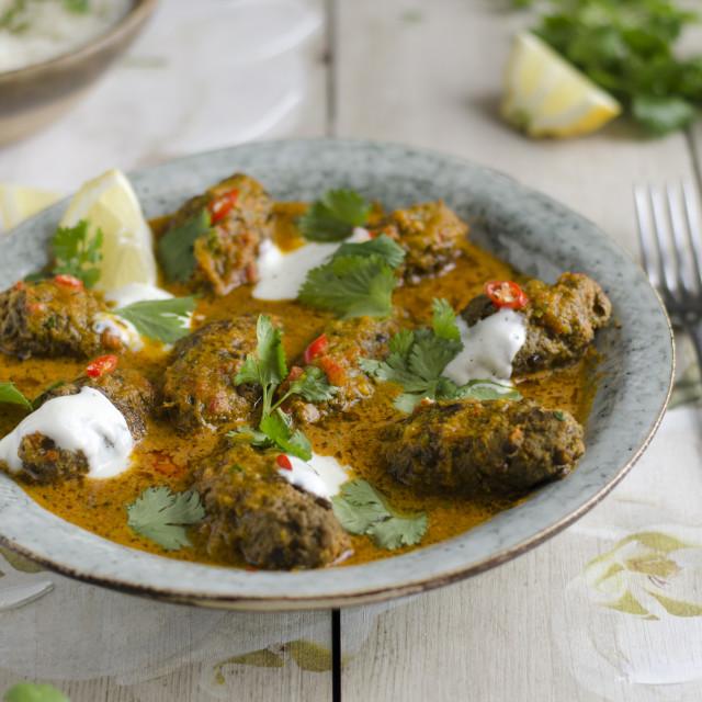 """Beef kofta curry"" stock image"