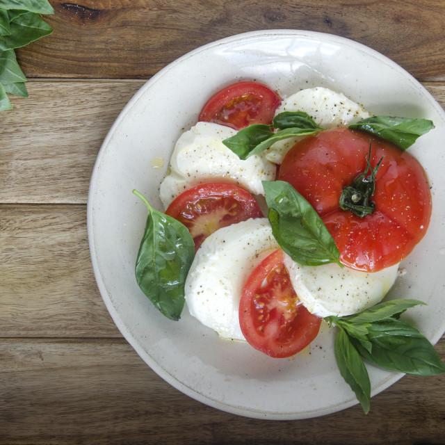 """Caprese salad"" stock image"