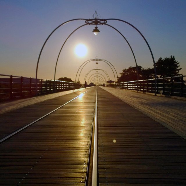 """""""Southport Pier, Southport, Merseyside"""" stock image"""
