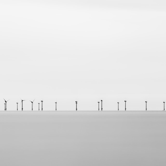 """Offshore Wind Turbines"" stock image"