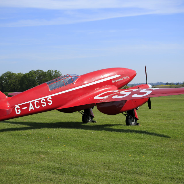 """""""DH88 Comet Racer G-ACSS"""" stock image"""