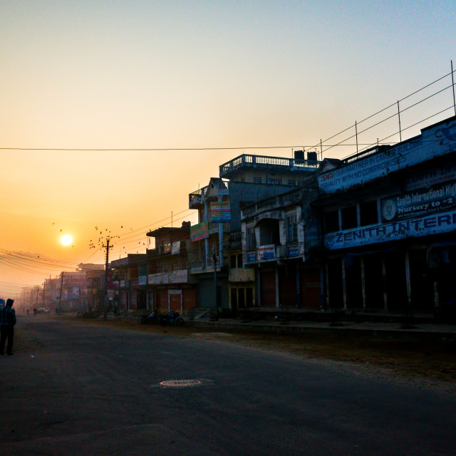 """Morning in Hetauda"" stock image"