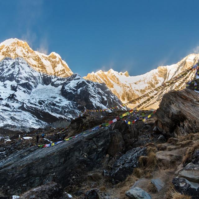 """Annapurna Base Camp"" stock image"