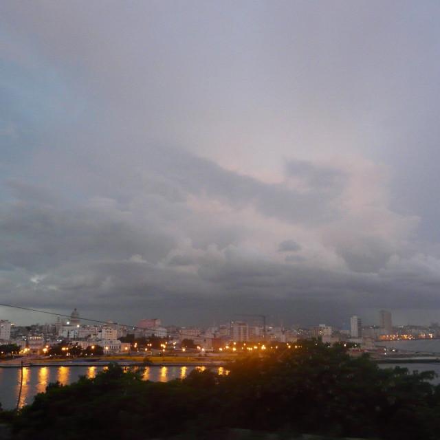 """""""Storm over Havana"""" stock image"""