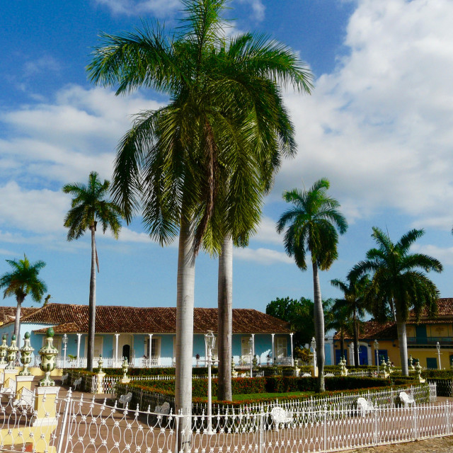 """Town Square, Trinidad"" stock image"