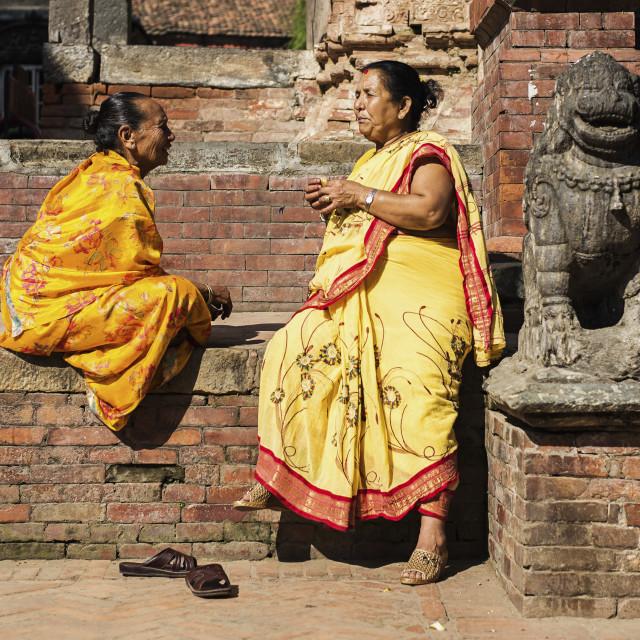 """Women in Patan"" stock image"