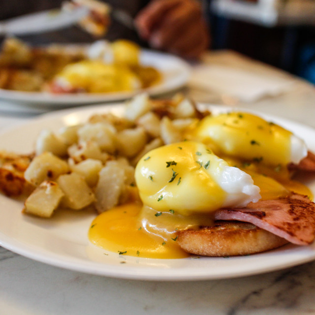 """eggs benedict"" stock image"
