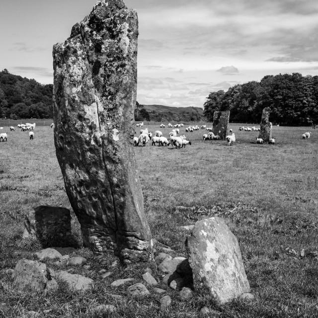 """Kilmartin Standing Stone"" stock image"